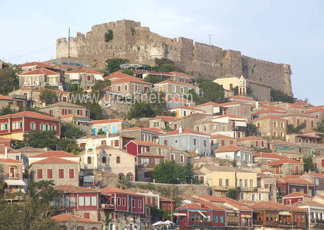 Views from Molivos' Byzantine Castle from SEA MELODY Rooms