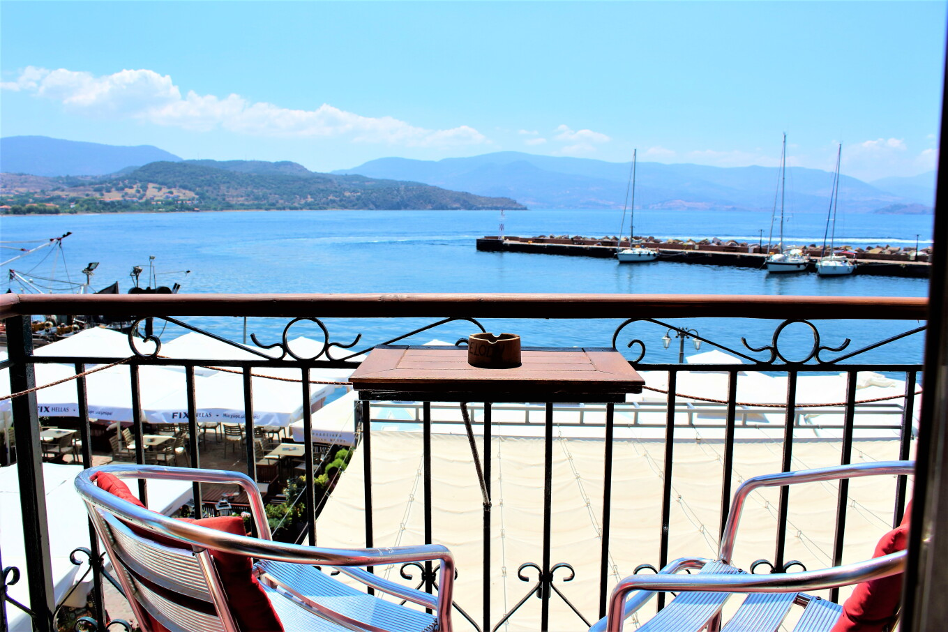 Stunning views from SEA MELODY's balconies